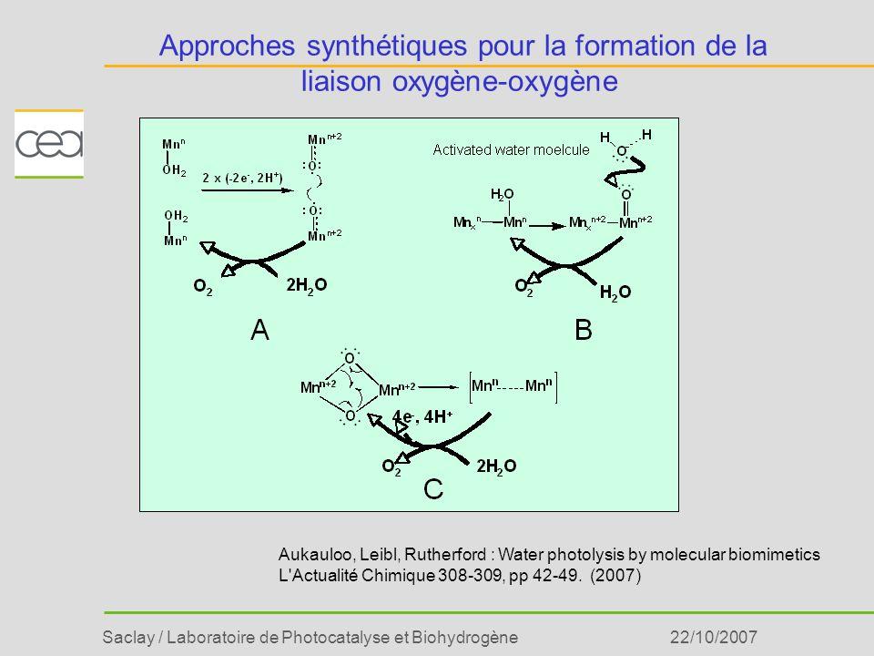 Approches synthétiques pour la formation de la liaison oxygène-oxygène