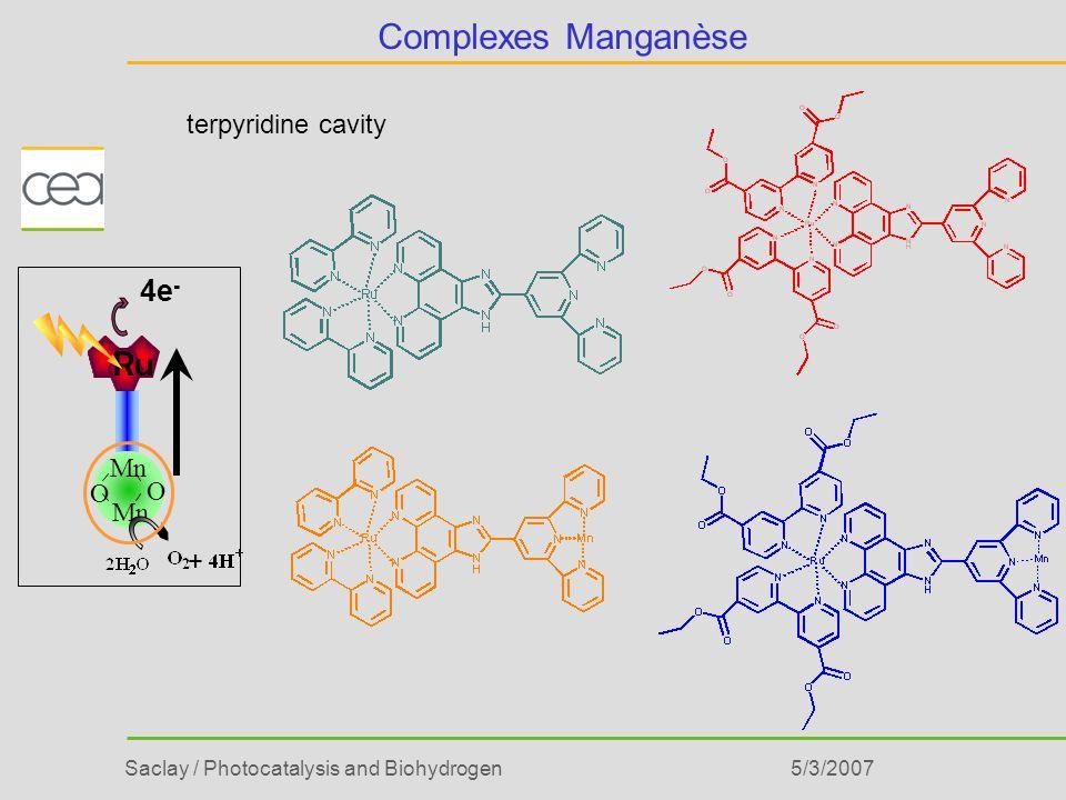 Complexes Manganèse terpyridine cavity Mn O Ru + 4e- 5/3/2007
