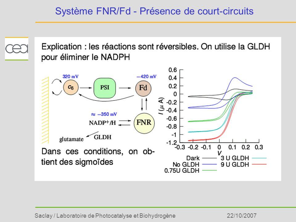 Système FNR/Fd - Présence de court-circuits