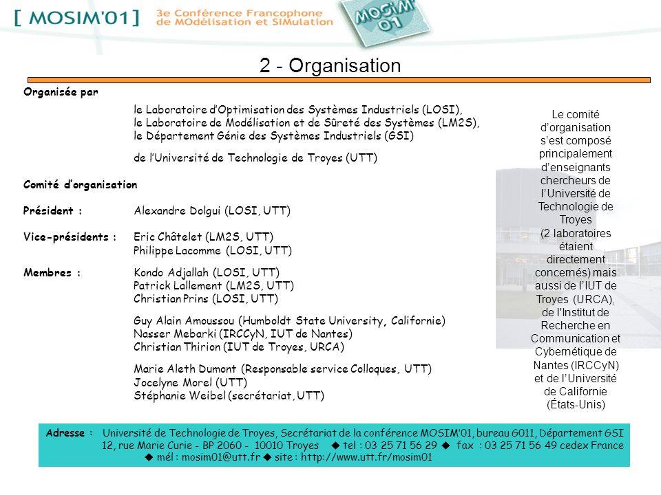 2 - Organisation Organisée par