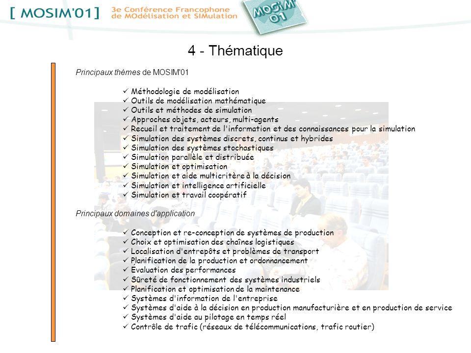 4 - Thématique Principaux thèmes de MOSIM 01
