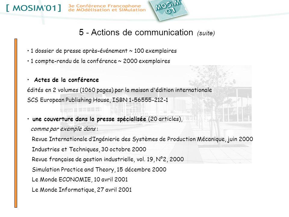 5 - Actions de communication (suite)