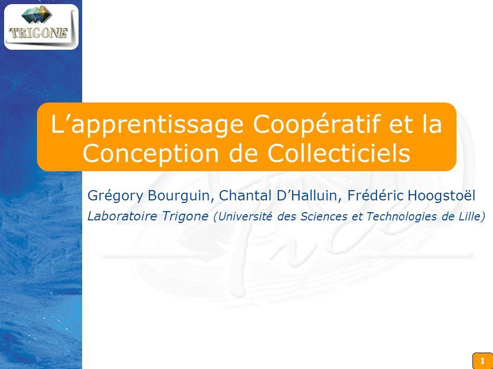 L'apprentissage Coopératif et la Conception de Collecticiels