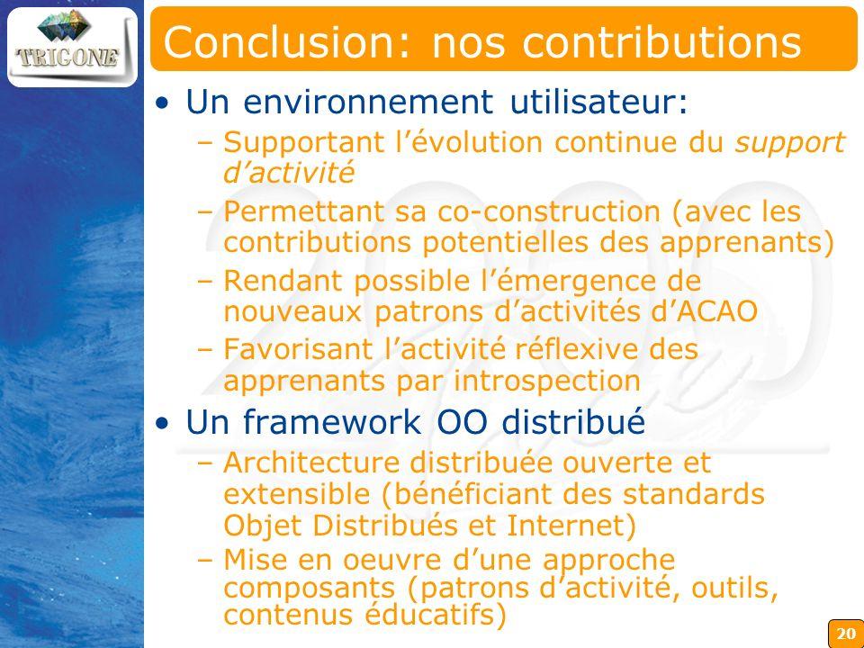 Conclusion: nos contributions