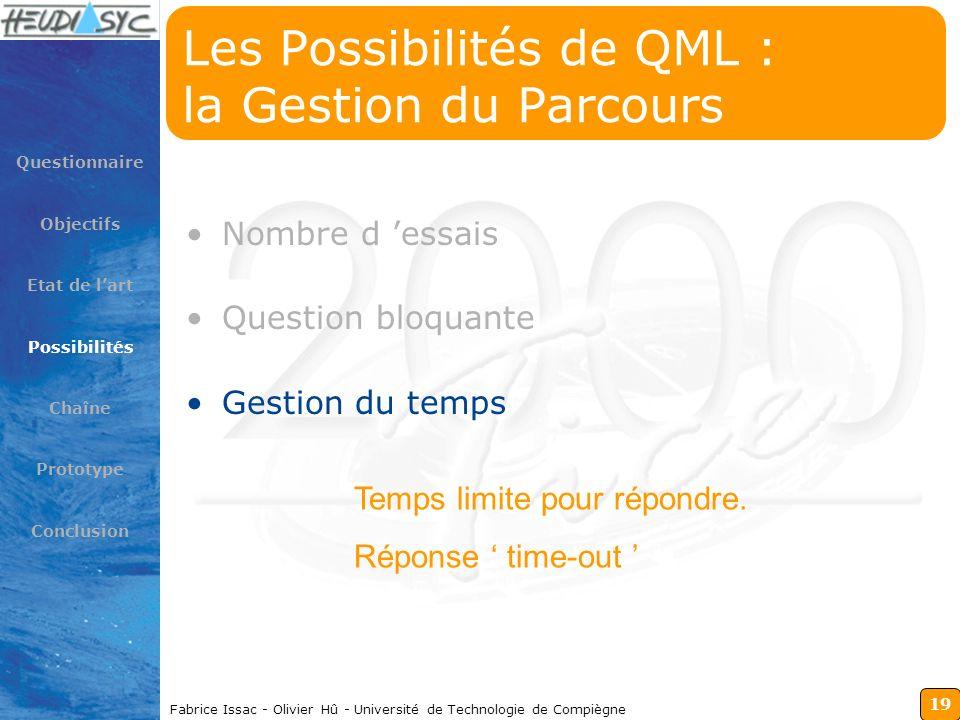 Les Possibilités de QML : la Gestion du Parcours