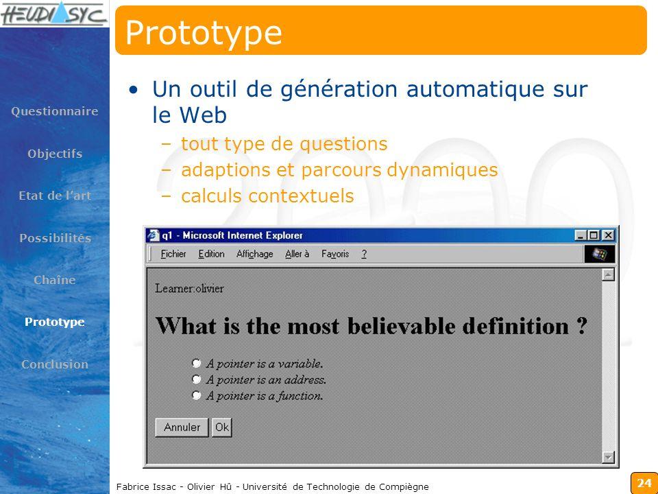 Prototype Un outil de génération automatique sur le Web