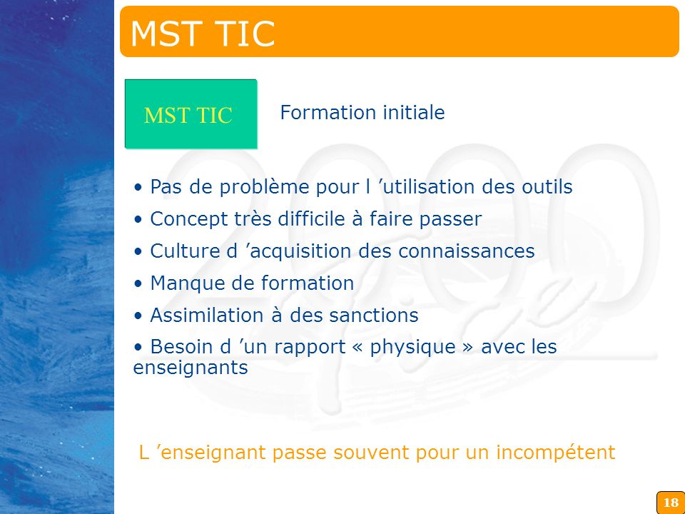 MST TIC MST TIC Formation initiale