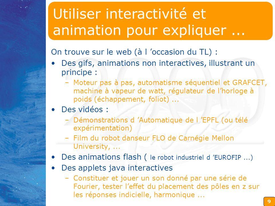 Utiliser interactivité et animation pour expliquer ...