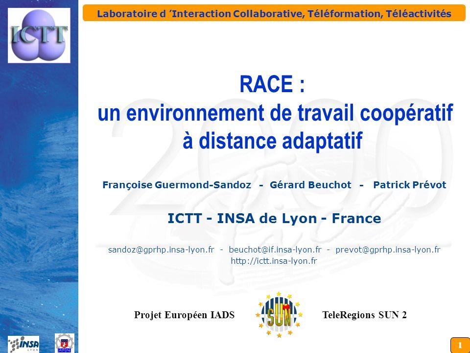 Laboratoire d 'Interaction Collaborative, Téléformation, Téléactivités