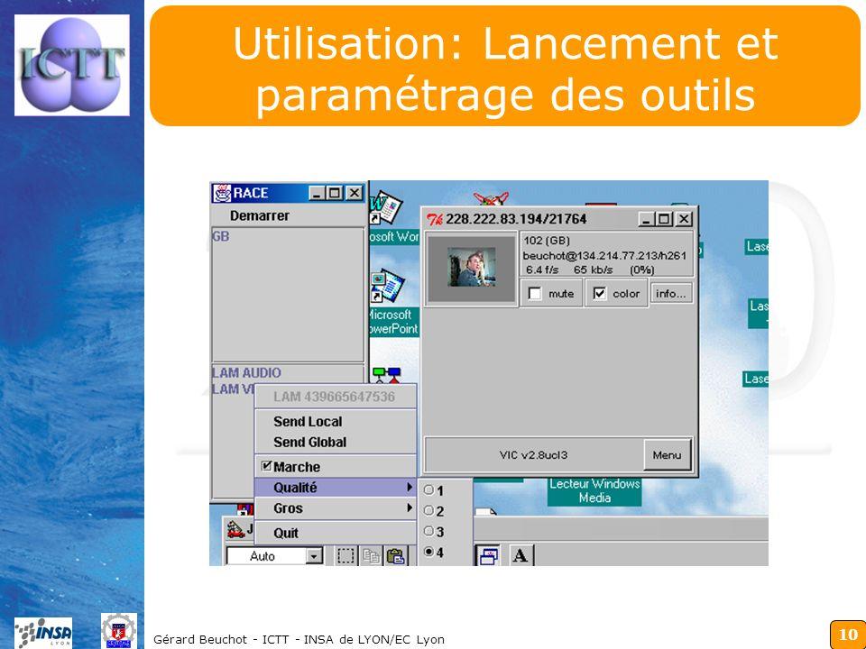 Utilisation: Lancement et paramétrage des outils