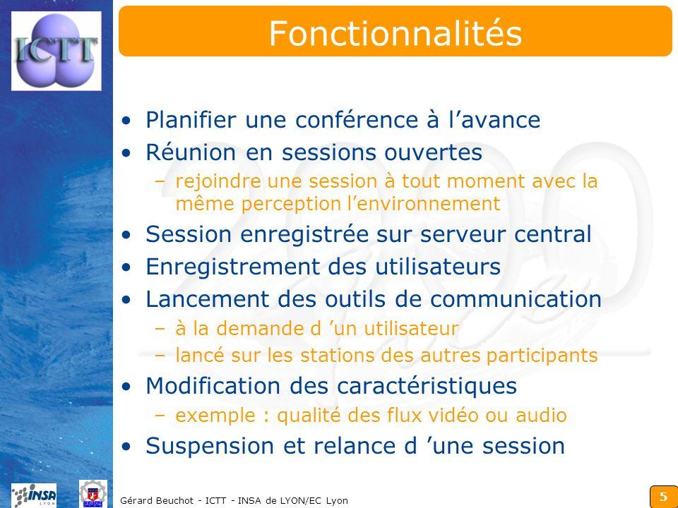 Fonctionnalités Planifier une conférence à l'avance