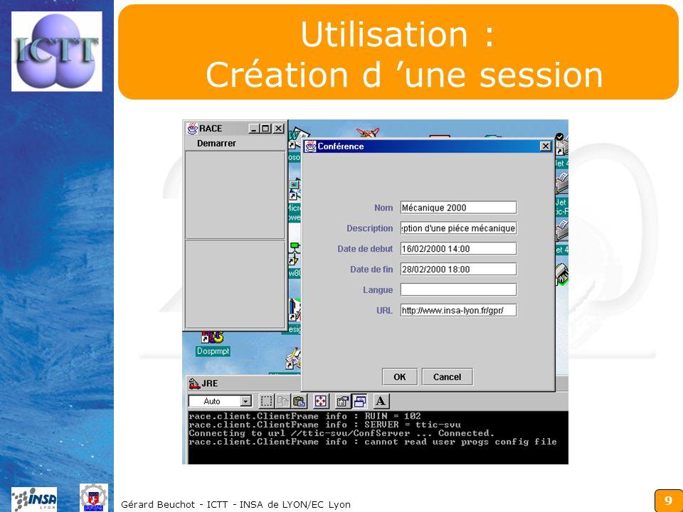 Utilisation : Création d 'une session