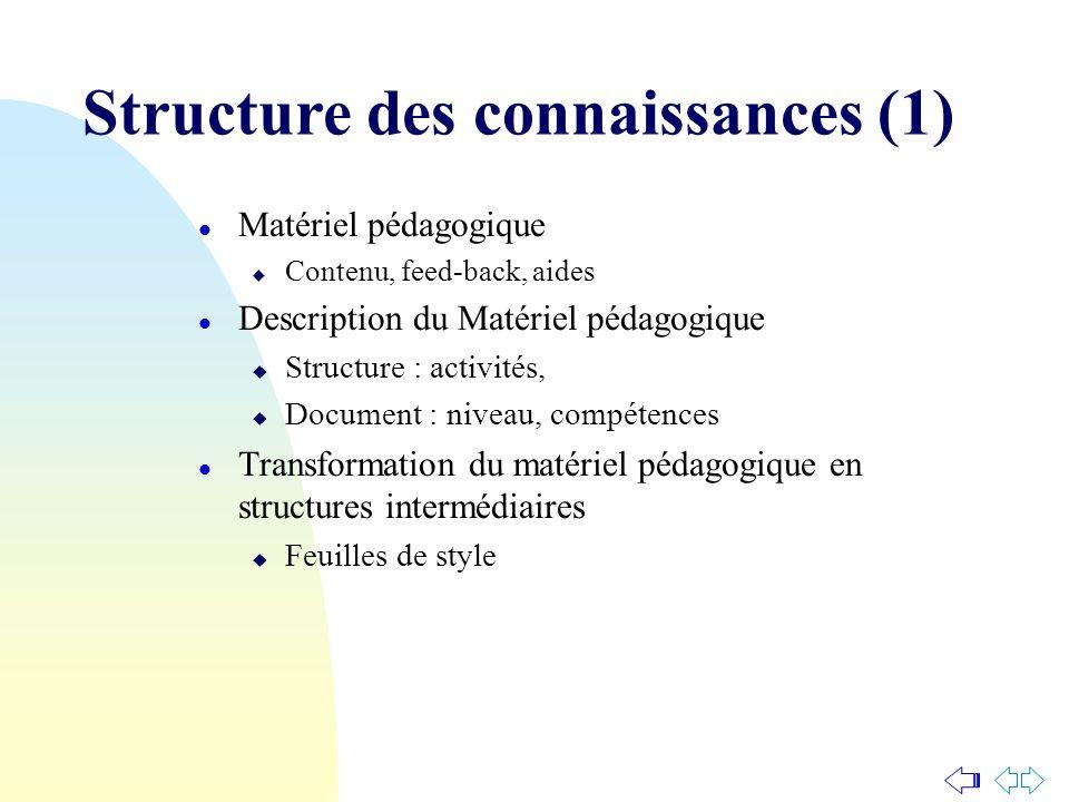 Structure des connaissances (1)