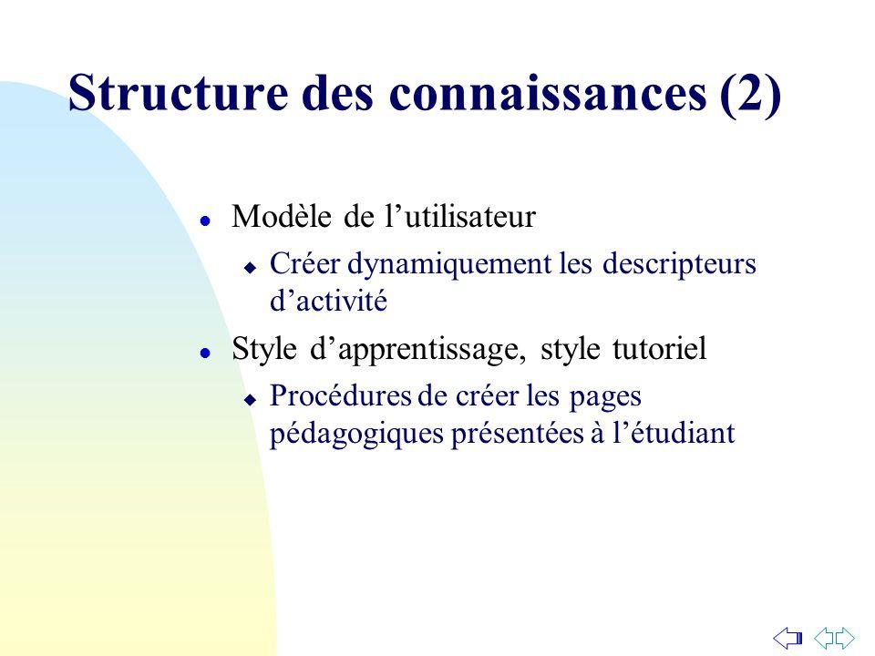 Structure des connaissances (2)