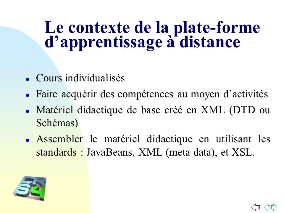 Le contexte de la plate-forme d'apprentissage à distance