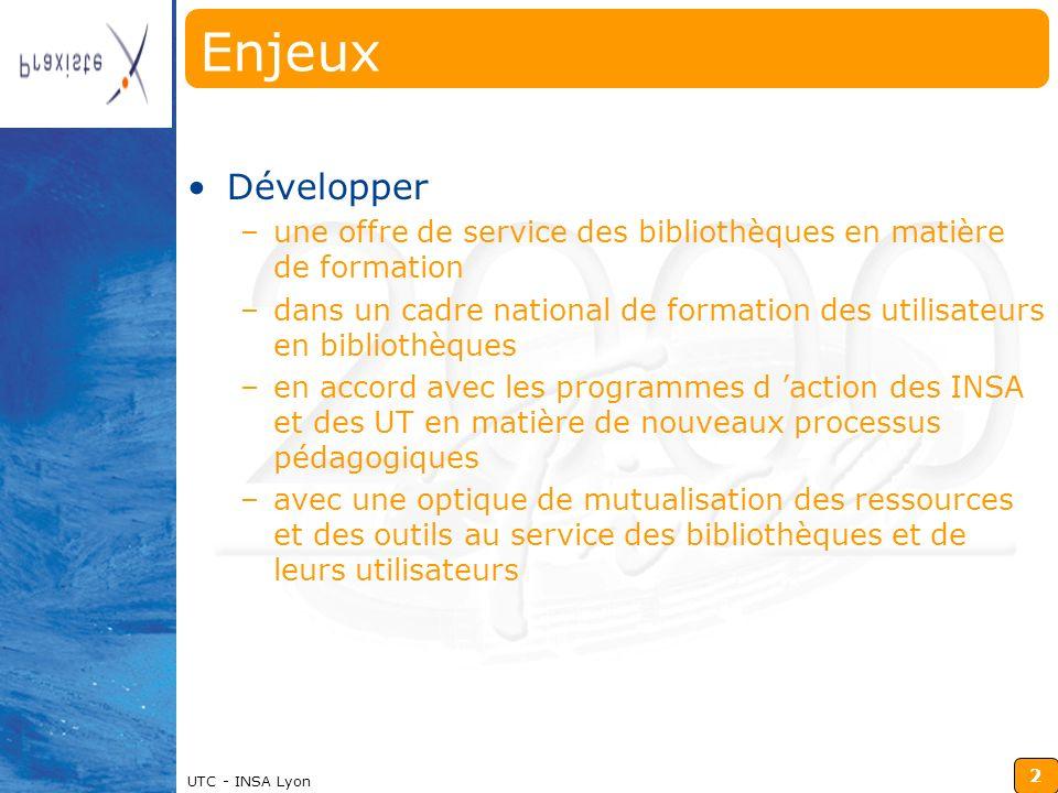 Enjeux Développer. une offre de service des bibliothèques en matière de formation.