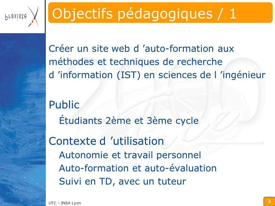 Objectifs pédagogiques / 1