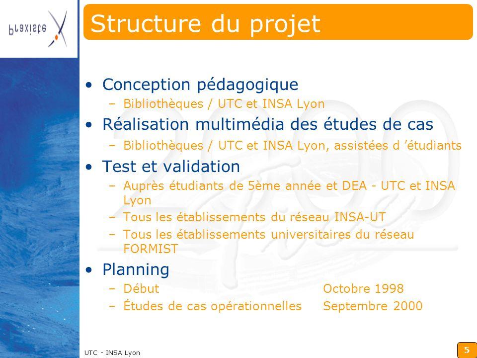Structure du projet Conception pédagogique