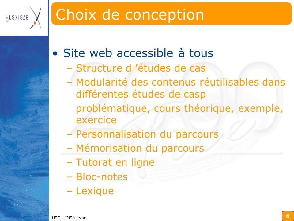 Choix de conception Site web accessible à tous