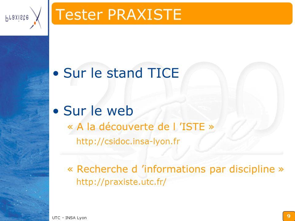 Tester PRAXISTE Sur le stand TICE Sur le web
