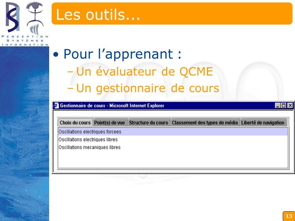 Les outils... Pour l'apprenant : Un évaluateur de QCME