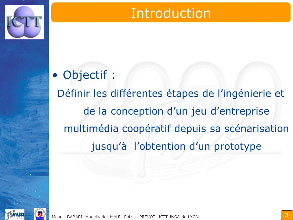 Introduction Objectif :