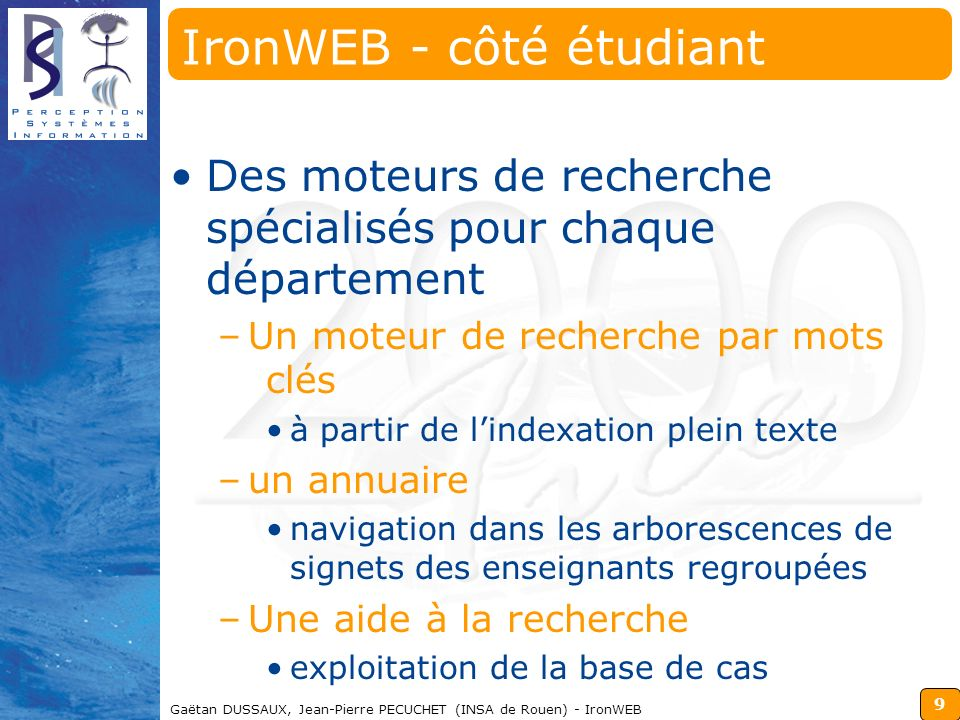 IronWEB - côté étudiant
