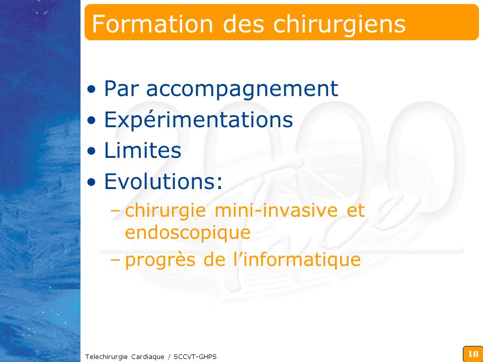 Formation des chirurgiens