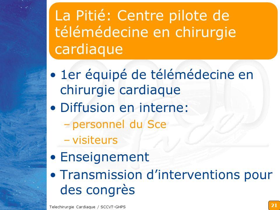 La Pitié: Centre pilote de télémédecine en chirurgie cardiaque