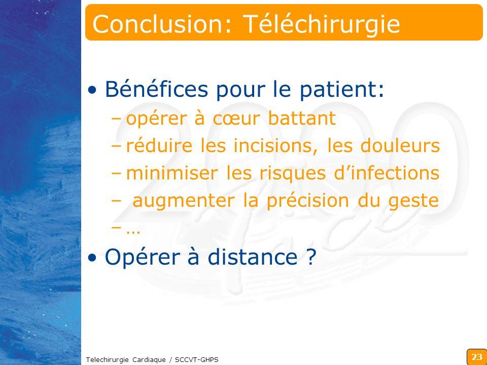 Conclusion: Téléchirurgie