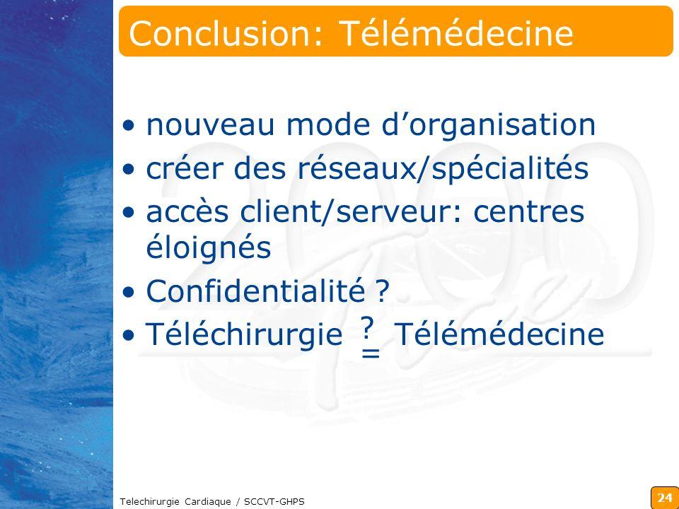 Conclusion: Télémédecine