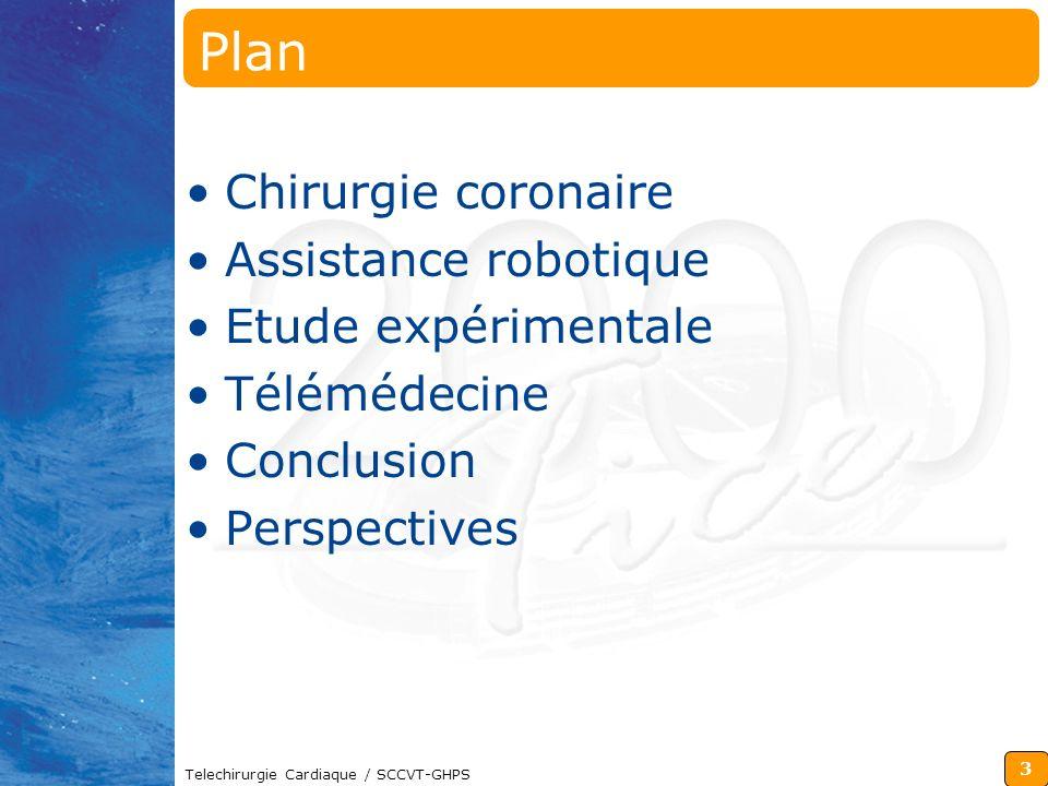 Plan Chirurgie coronaire Assistance robotique Etude expérimentale