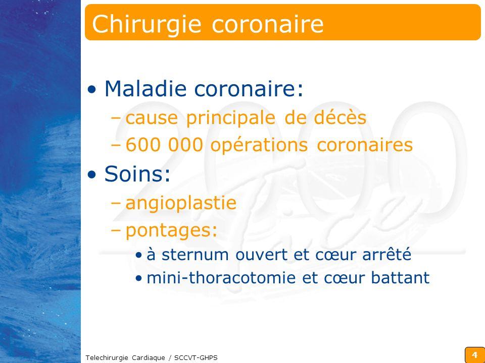 Chirurgie coronaire Maladie coronaire: Soins: