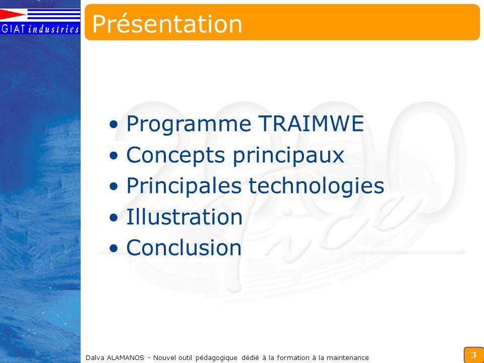 Présentation Programme TRAIMWE Concepts principaux