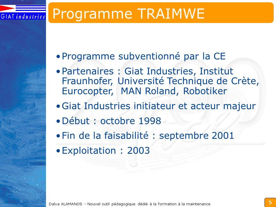 Programme TRAIMWE Programme subventionné par la CE
