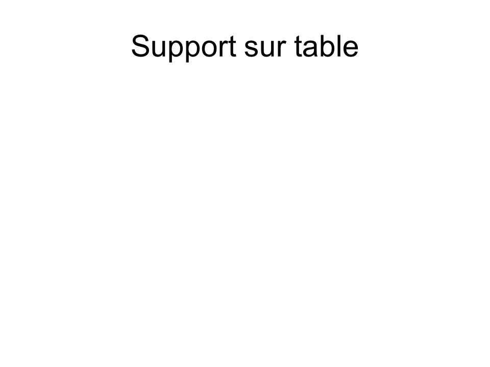 Support sur table
