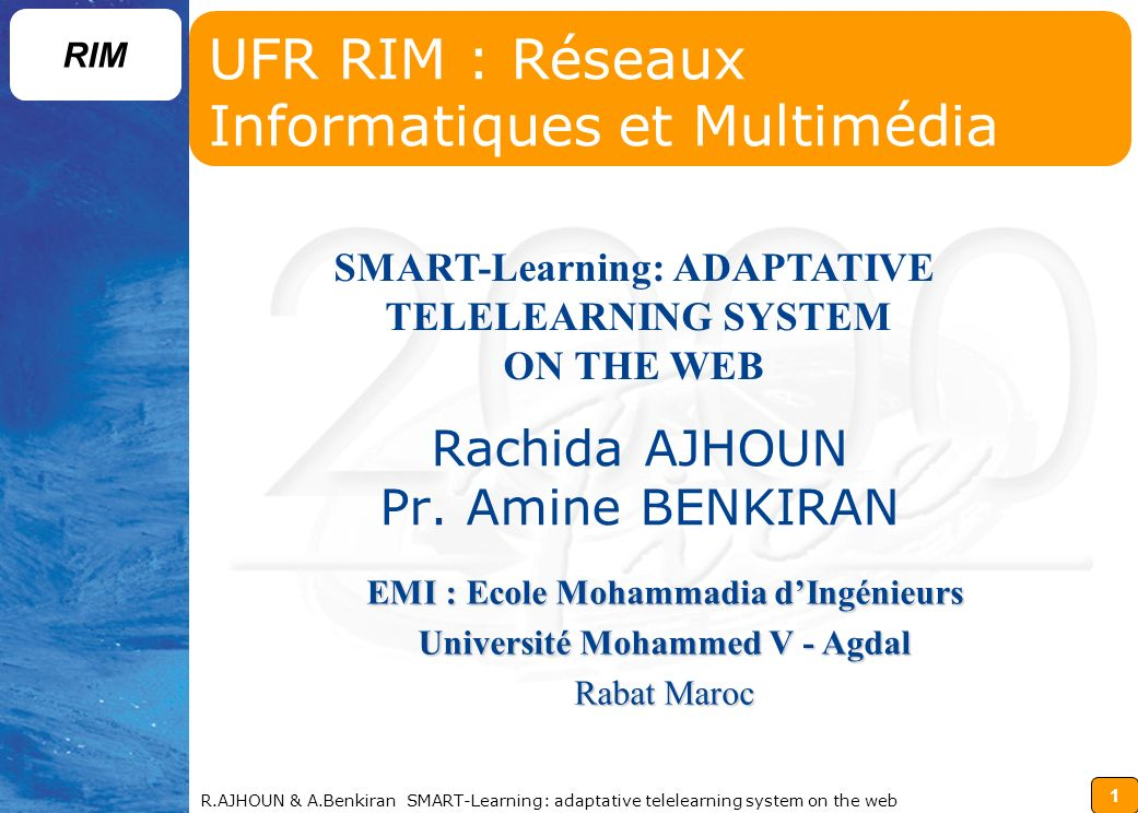 UFR RIM : Réseaux Informatiques et Multimédia