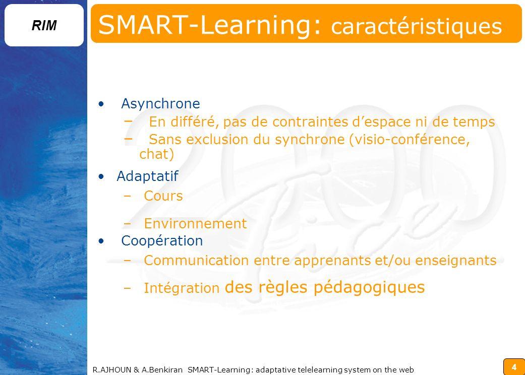 SMART-Learning: caractéristiques