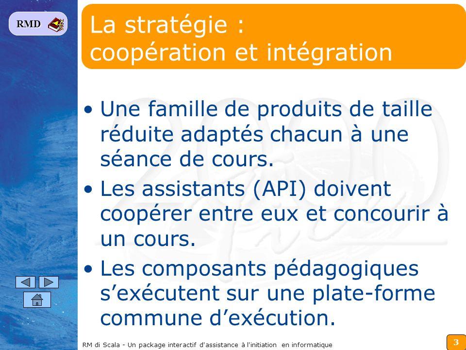 La stratégie : coopération et intégration
