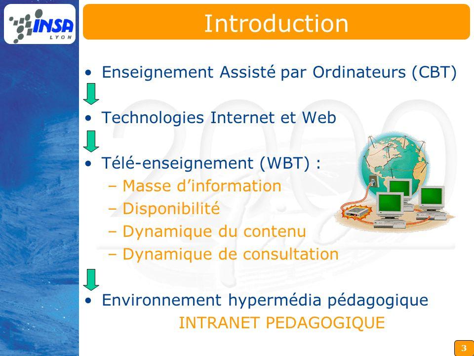Introduction Enseignement Assisté par Ordinateurs (CBT)