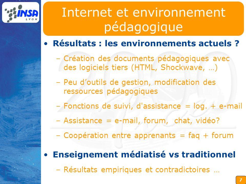 Internet et environnement pédagogique