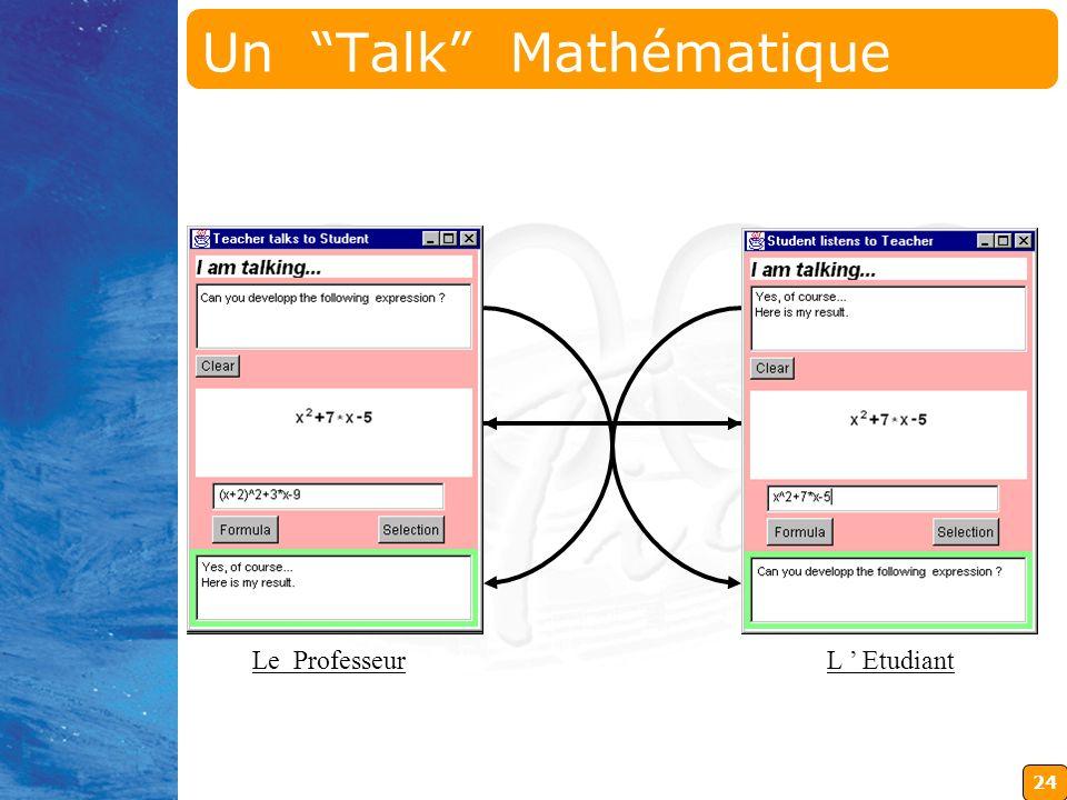 Un Talk Mathématique