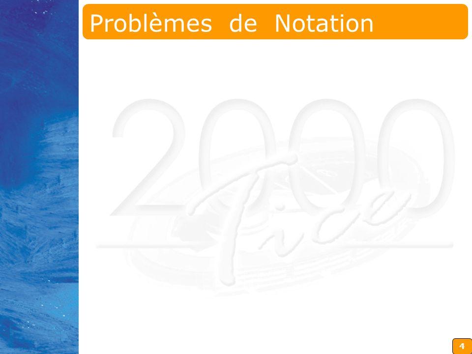 Problèmes de Notation
