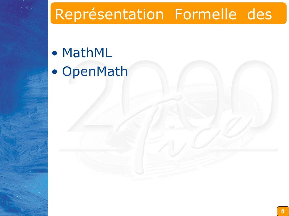 Représentation Formelle des Mathématiques