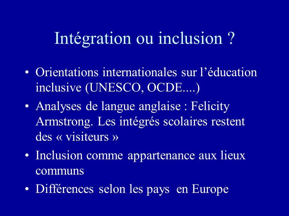 Intégration ou inclusion
