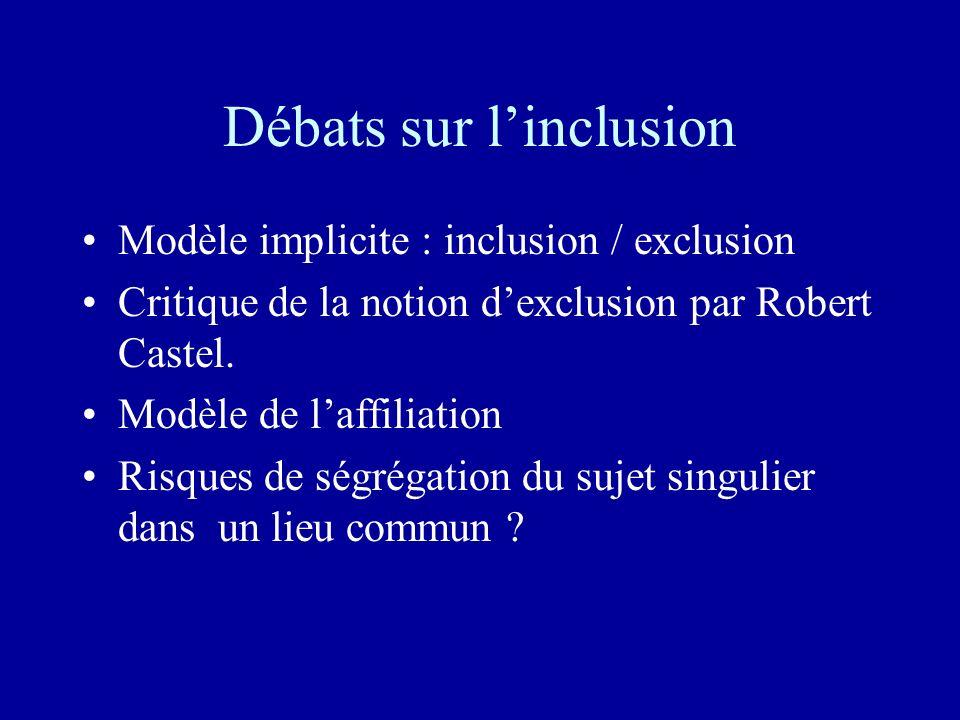Débats sur l'inclusion