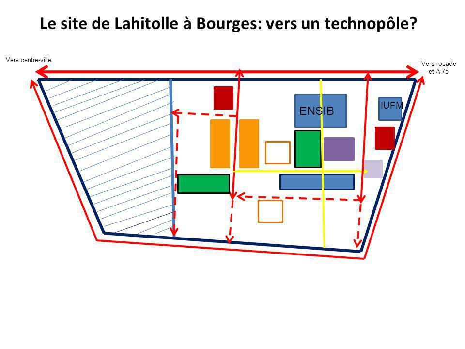 Le site de Lahitolle à Bourges: vers un technopôle