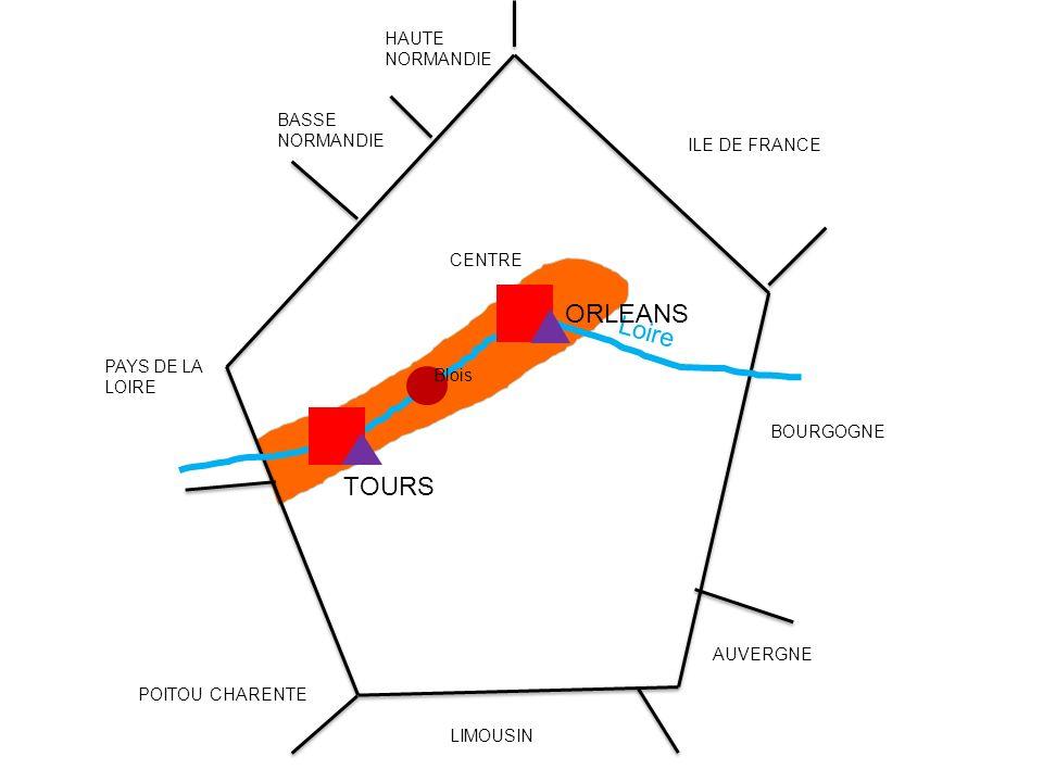 ORLEANS Loire TOURS HAUTE NORMANDIE BASSE NORMANDIE ILE DE FRANCE