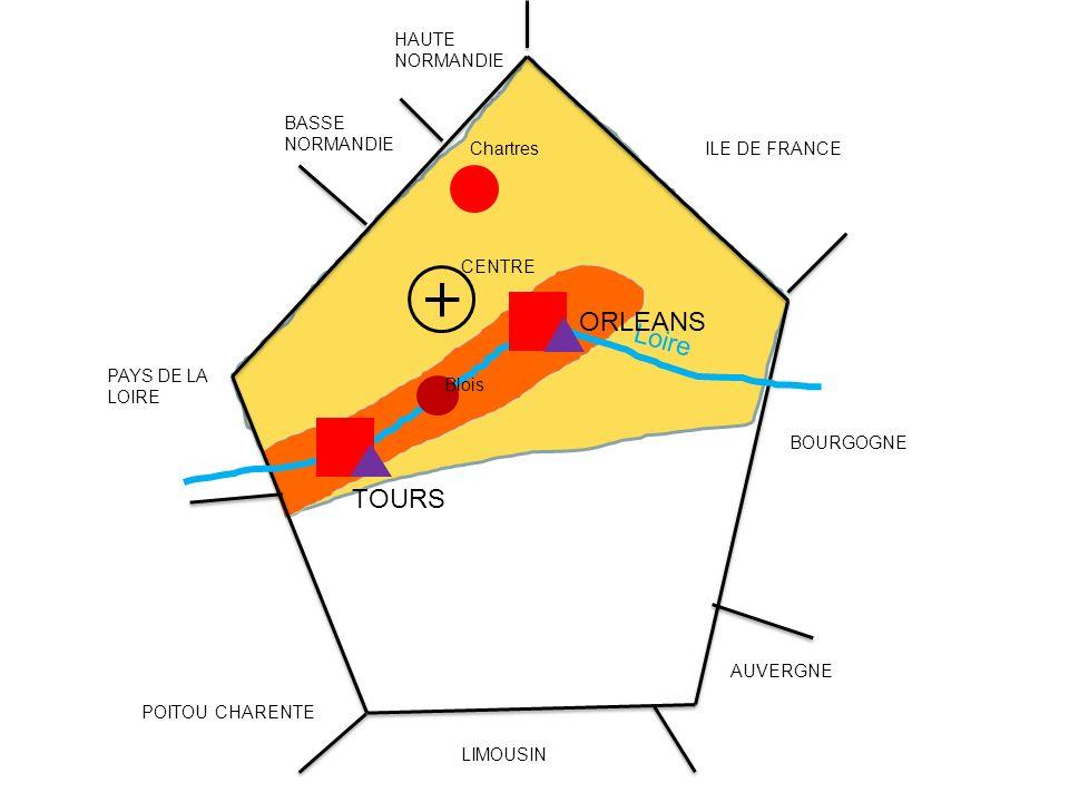 ORLEANS Loire TOURS HAUTE NORMANDIE BASSE NORMANDIE Chartres