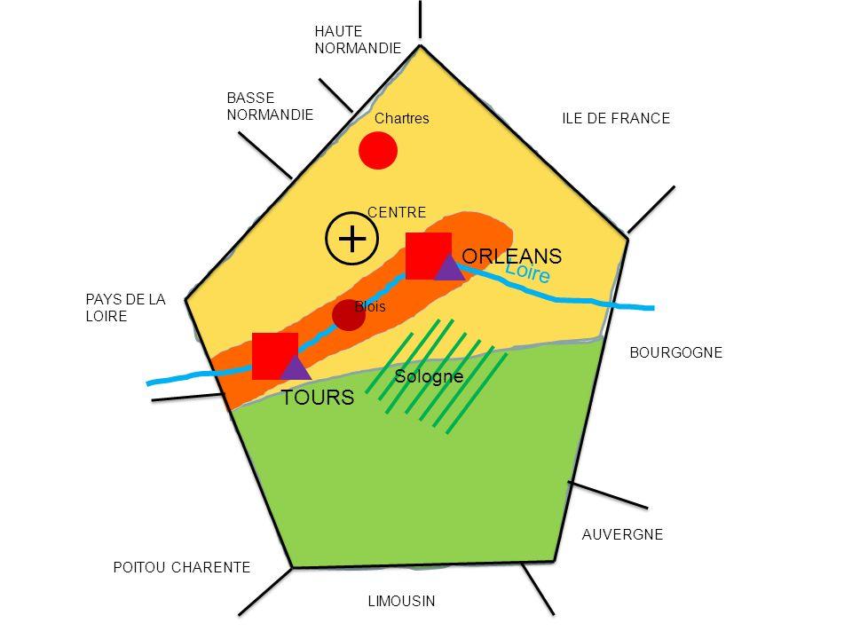 ORLEANS Loire TOURS Sologne HAUTE NORMANDIE BASSE NORMANDIE Chartres